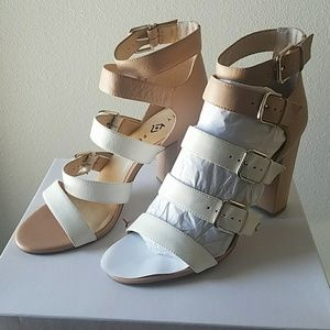 Katy Perry Ivory Blush Nude Leather High Heels